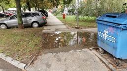 Úprava chodníka - zadržiavanie vody