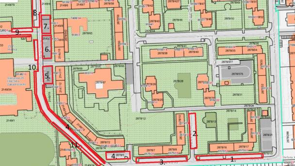 Čistenie parkovacích miest, úsek 11 a 24